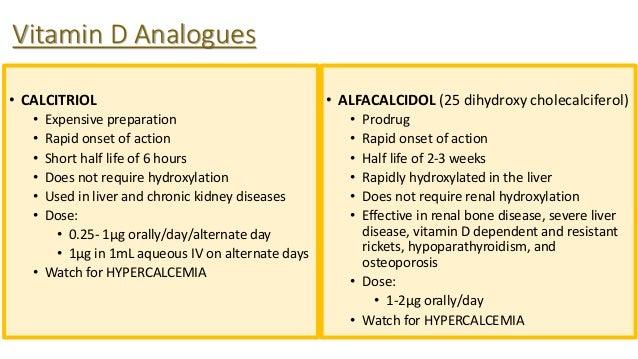Alfacalcidol Dosage