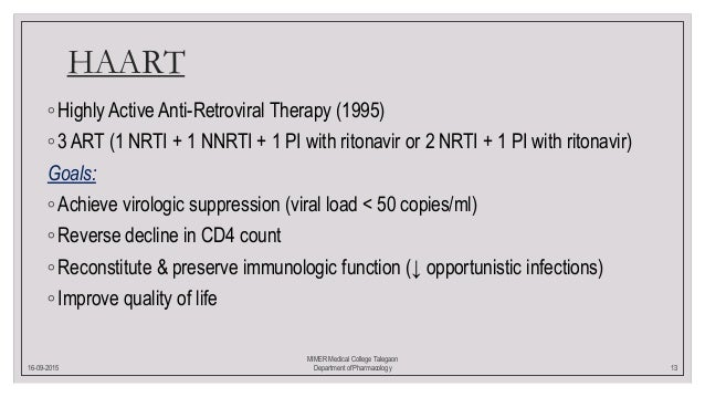 Pharmacotherapy of HIV
