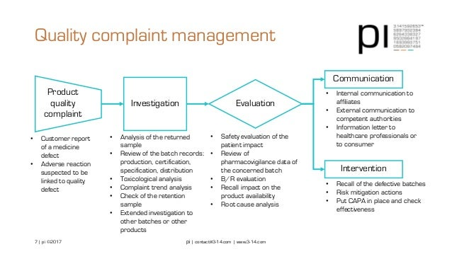Pharmacovigilance and product quality assessment