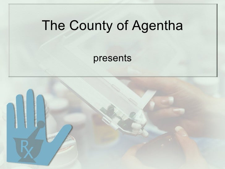 pharmacy ppt template for powerpoint presentation the county of agentha presents