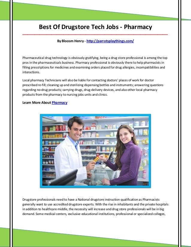 Best Of Drugstore Tech Jobs - Pharmacy ___________________________________________________________________________________...