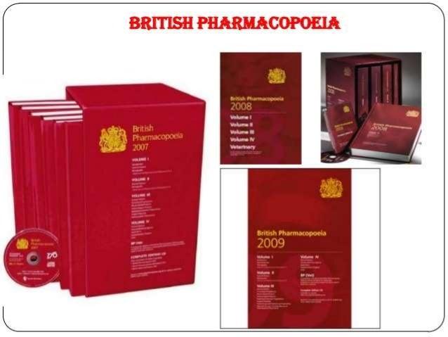 Pharmacy history, pharmacopoeia