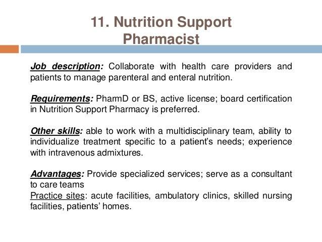 Pharmacy careers pharmacist practice settings – Pharmacist Job Description