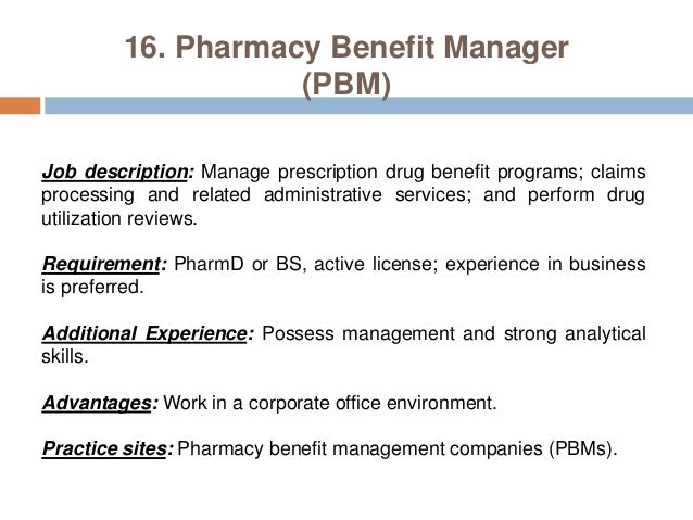 pharmacy manager job description