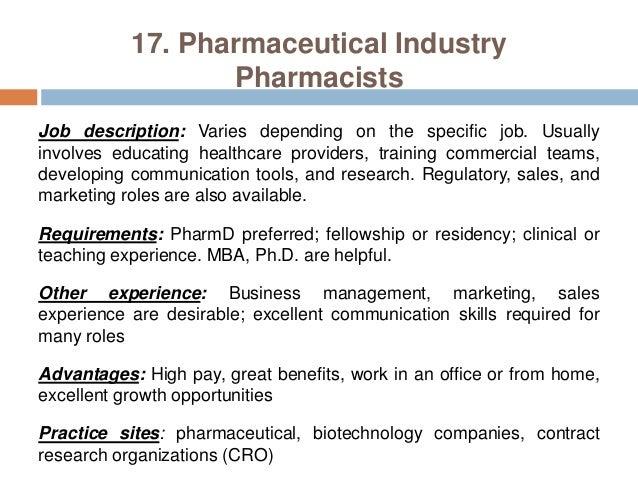 a career description pharmacist