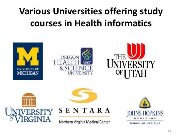Various Universities offering study courses in Health informatics 26