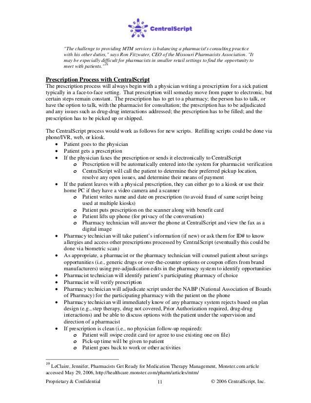 pharmacy mtm business plan