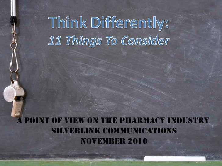 A point of view on the phArmAcy industry        silverlink communicAtions              november 2010
