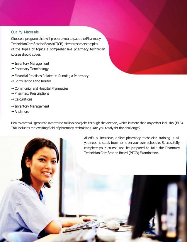 8 Pharmacy Tech Training