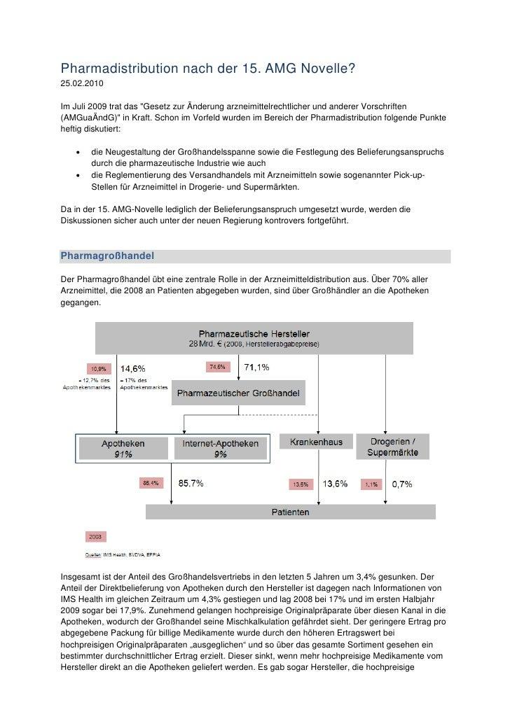 """Pharmadistribution nach der 15. AMG Novelle? 25.02.2010  Im Juli 2009 trat das """"Gesetz zur Änderung arzneimittelrechtliche..."""