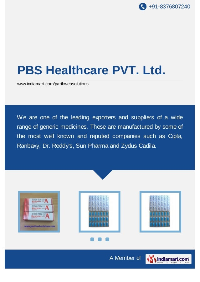 +91-8376807240 A Member of PBS Healthcare PVT. Ltd. www.indiamart.com/parthwebsolutions We are one of the leading exporter...