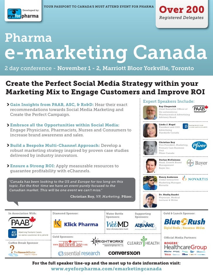 Over 200                           YOUR PASSPORT TO CANADA'S MUST ATTEND EVENT FOR PHARMA           Developed by:         ...