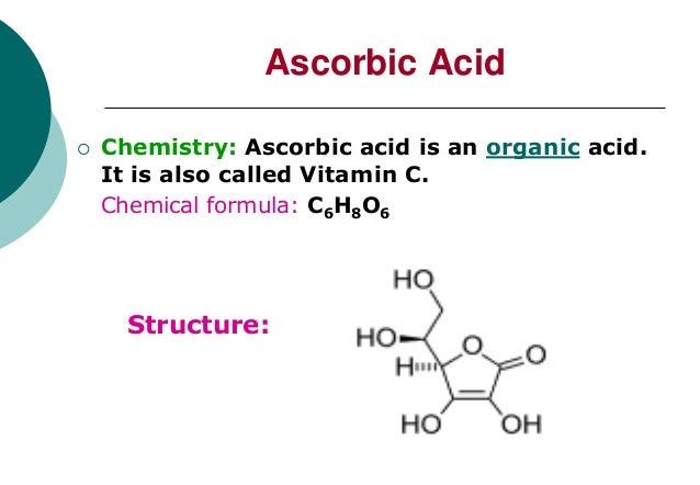 Chemical Properties Of Vitamin C