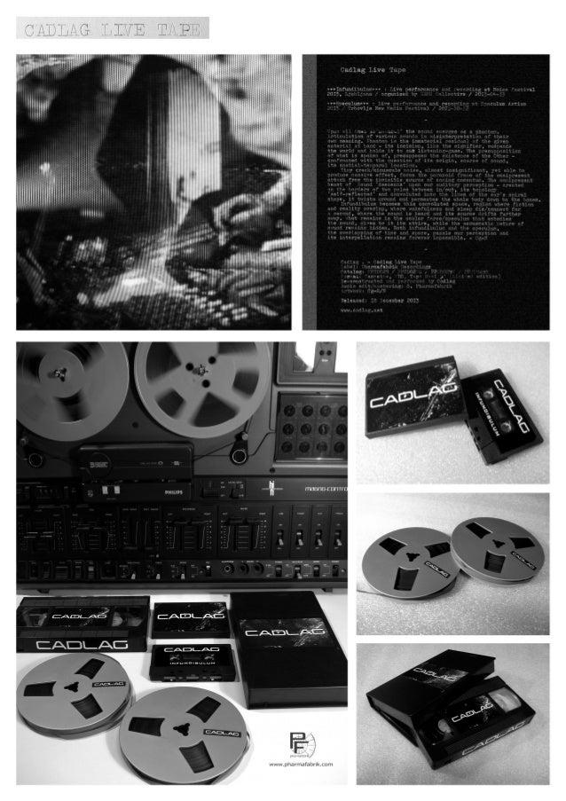 Cadlag - Live Tape (cassette, reel, vhs)