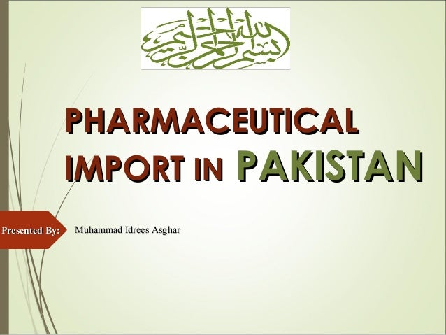 Pharma import process