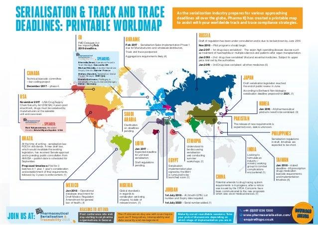 Pharma IQ Serialization Deadlines Updated - Iq map of us