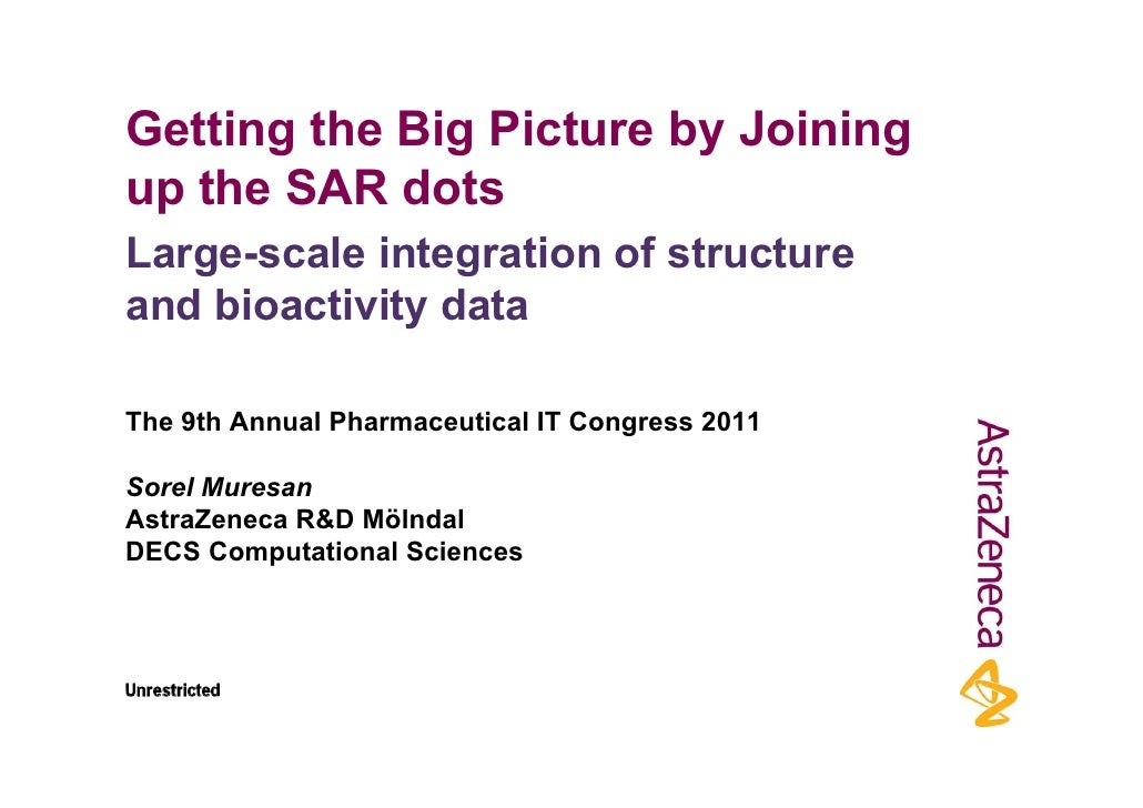 Getting the Big Picture by Joiningup the SAR dotsLarge-scale integration of structureand bioactivity dataThe 9th Annual Ph...