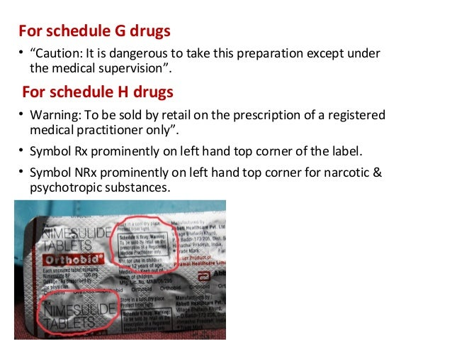 pharma lables