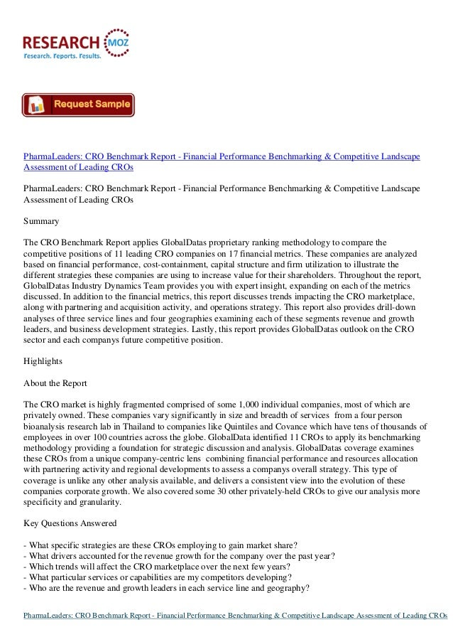 PharmaLeaders: CRO Benchmark Report - Financial Performance Benchmarking & Competitive Landscape Assessment of Leading CRO...
