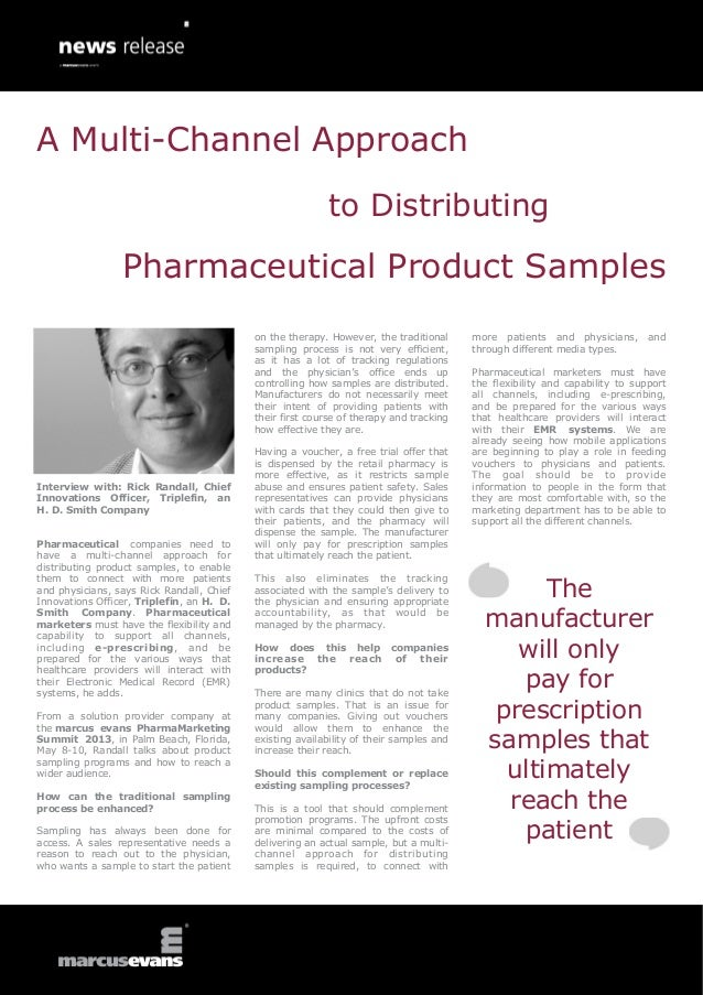 A Multi-Channel Approach                                                           to Distributing                 Pharmac...
