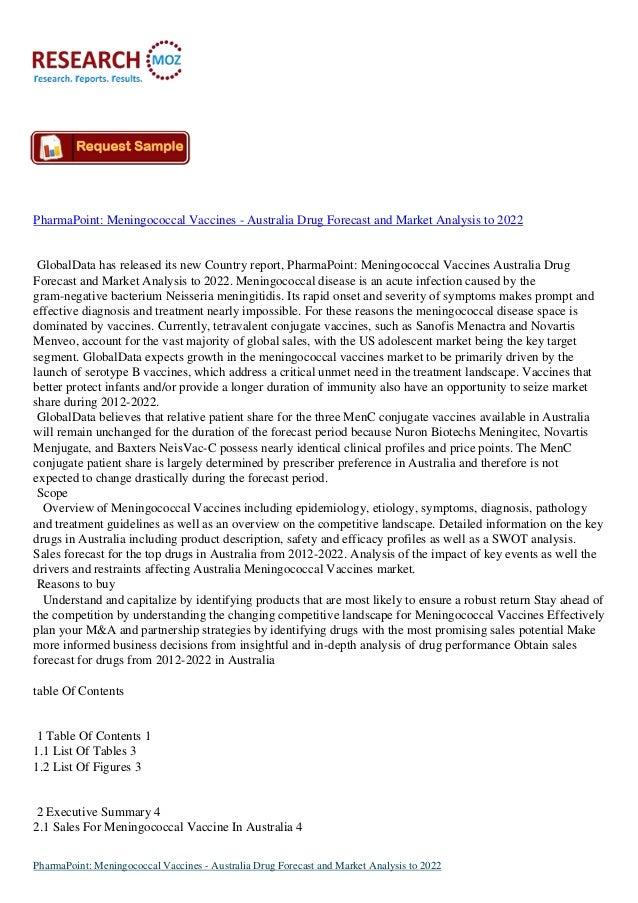 PharmaPoint: Meningococcal Vaccines - Australia Drug Forecast and Market Analysis to 2022 GlobalData has released its new ...