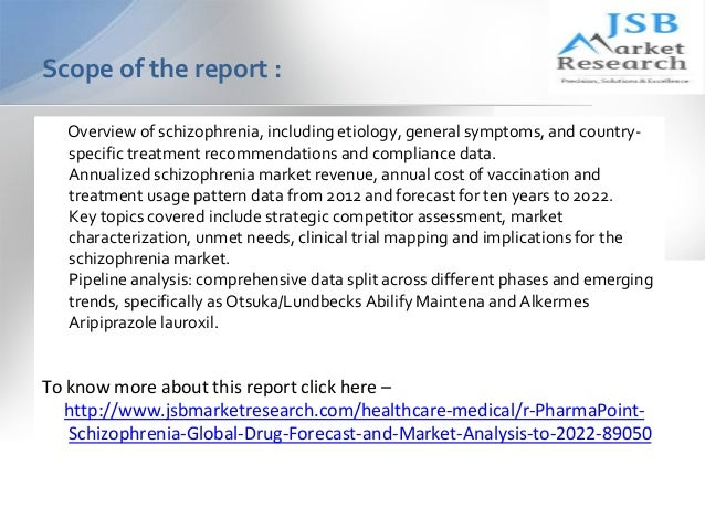 schizophrenia global drug forecast and Schizophrenia drugs sales forecast: sales forecast for schizophrenia drugs to 2021 by countries - europe, germany, france, italy, spain, uk, japan schizophrenia market share analysis: find out the market shares of schizophrenia drugs and outlook by countries - europe, germany, france, italy, spain, uk, japan.