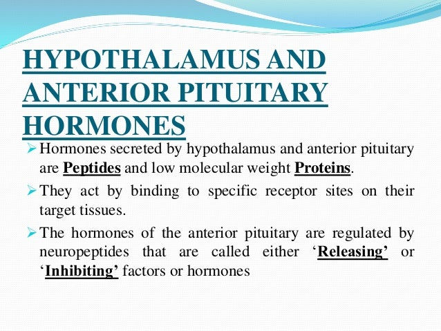 drugs used to treat hypothalamus and anterior pituitary hormones