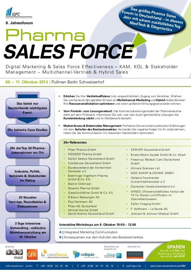 Digital Marketing & Sales Force Effectiveness – KAM, KOL & Stakeholder Management – Multichannel-Vertrieb & Hybrid Sales 9...