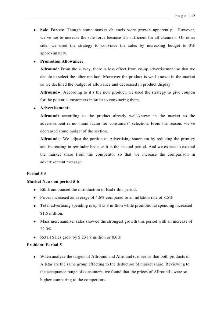 pharmasim final report Columbia university graduate school of business b6602: managing marketing programs course review pharmasim report final exam.