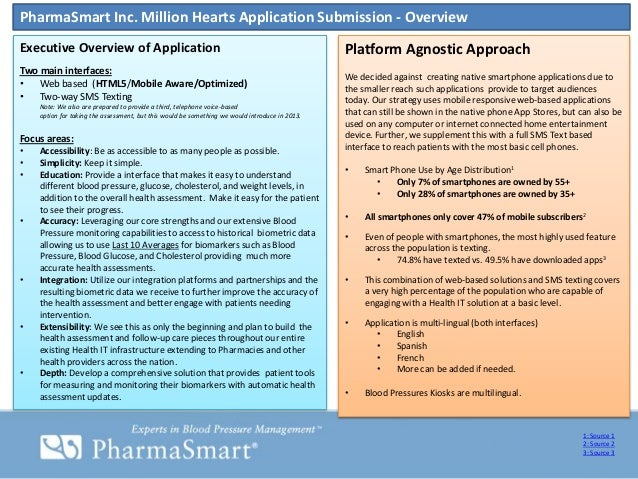 PharmaSmart Inc. Million Hearts Application Submission - OverviewExecutive Overview of Application                        ...