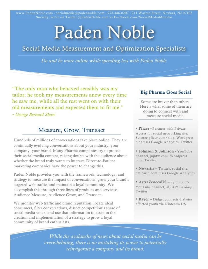 www.PadenNoble.com - socialmedia@padennoble.com - 973-486-0207 - 211 Warren Street, Newark, NJ 07103           Socially, w...