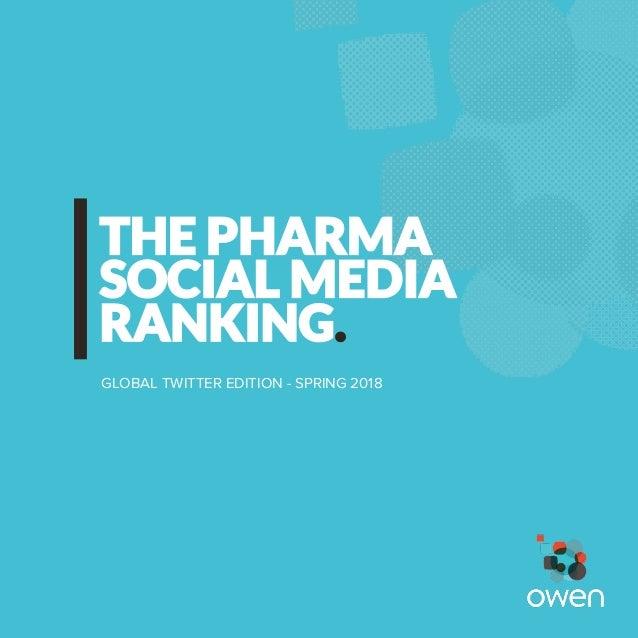 SOCIAL MEDIA THE PHARMA GLOBAL TWITTER EDITION - SPRING 2018 RANKING.