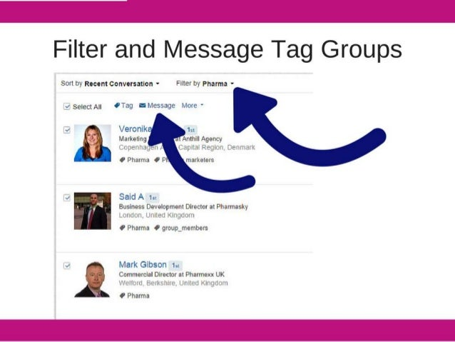 Filter and Message Tag Groups  Sort by Recent conversation - Filter by Pharma -        _{4 $gIeCtA| | OTag Ilmessage Ii-lo...