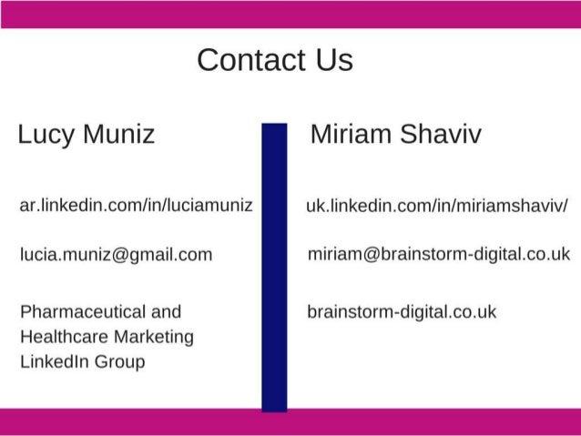 Contact Us  Lucy Muniz Miriam Shaviv ar. |inkedin. com/ in/ luciamuniz uk. linkedin. com/ in/ miriamshaviv/  |ucia. muniz@...