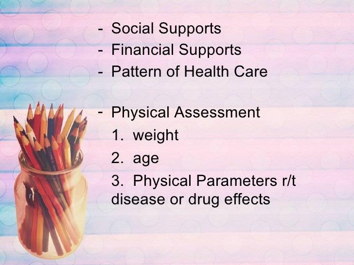 <ul><li>Social Supports </li></ul><ul><li>Financial Supports </li></ul><ul><li>Pattern of Health Care </li></ul><ul><li>Ph...