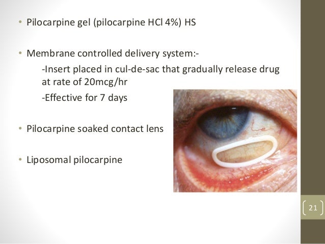 pharmacotherapy of glaucoma