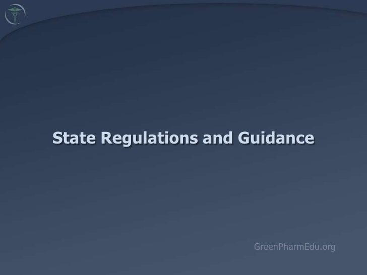 5.5. State Regulations and Guidance (Batz)