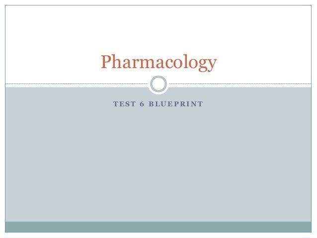 T E S T 6 B L U E P R I N T Pharmacology