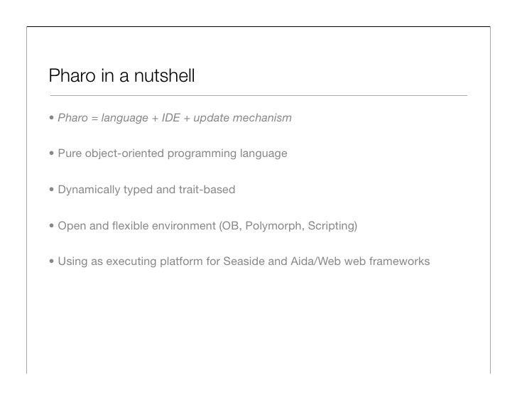 The Pharo Programming Language Slide 2
