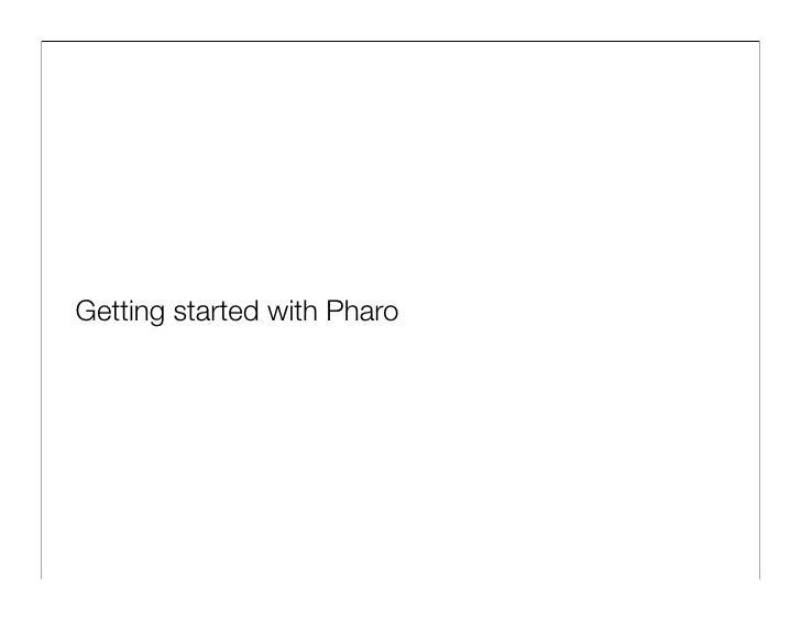 The Pharo Programming Language Slide 3