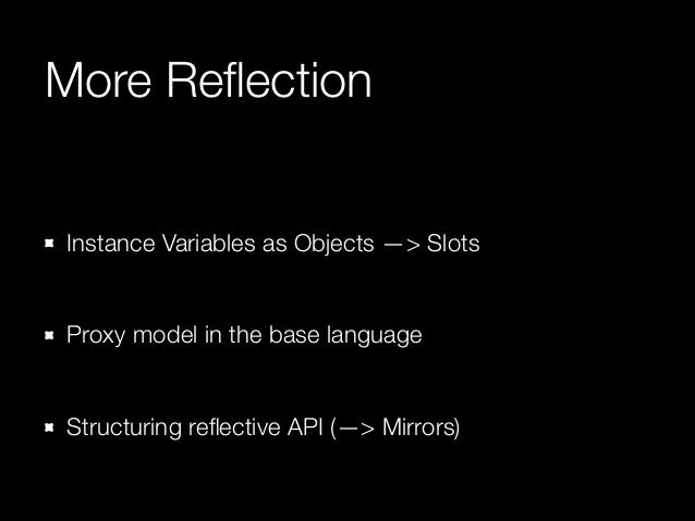 """System - as - Objects  Put """"virtualization"""" in the language We already use """"Images"""" Make the Image a first class concept in..."""