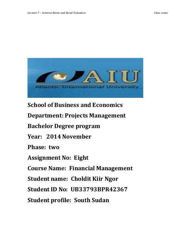 financial management 1 assignment Click the button below to add the bus 401 week 1 assignment financial management challenges and ethics to your wish list.