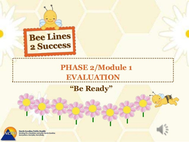 """PHASE 2/Module 1EVALUATION""""Be Ready"""""""