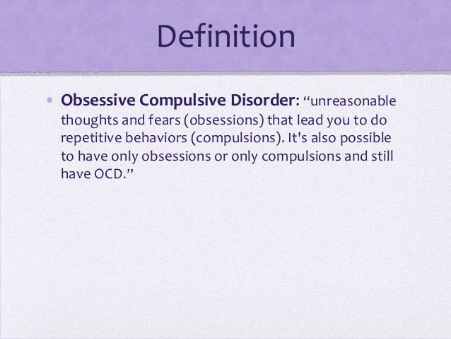 Clinical Definition of OCD