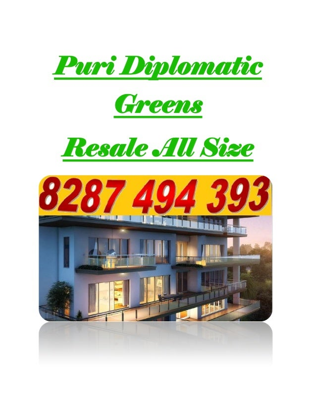 Puri Diplomatic Greens Resale All Size