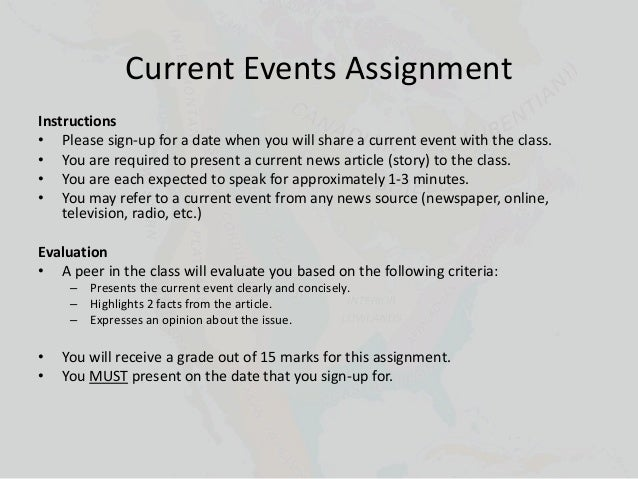 individual assignment current events in business essay Read this essay on res 351 week 1 individual assignment current events in business research come browse our large digital warehouse of free sample essays get the knowledge you need in order to pass your classes and more.