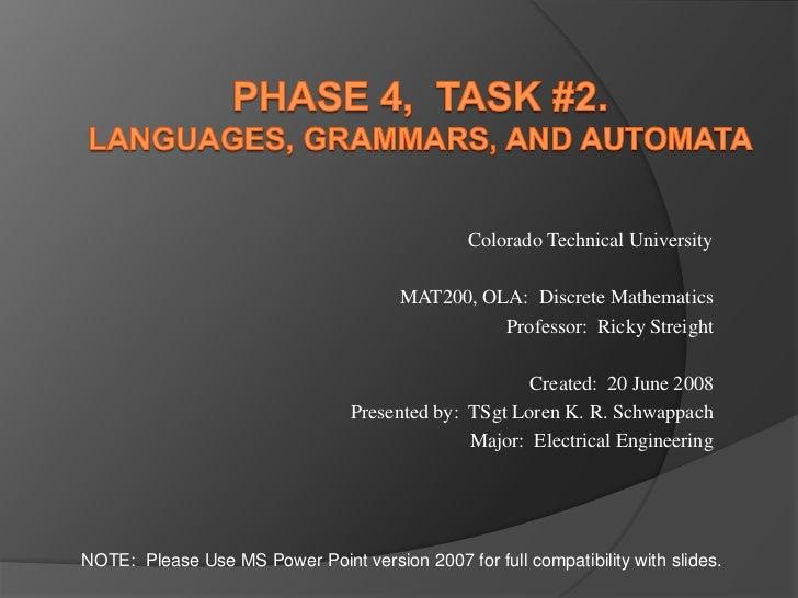 Colorado Technical University                                       MAT200, OLA: Discrete Mathematics                     ...