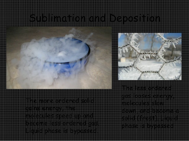 11 sublimation and deposition