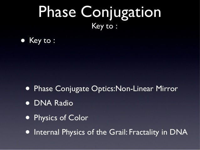 Phase Conjugation Fractality Negentropy And Implosion From Dan Wint