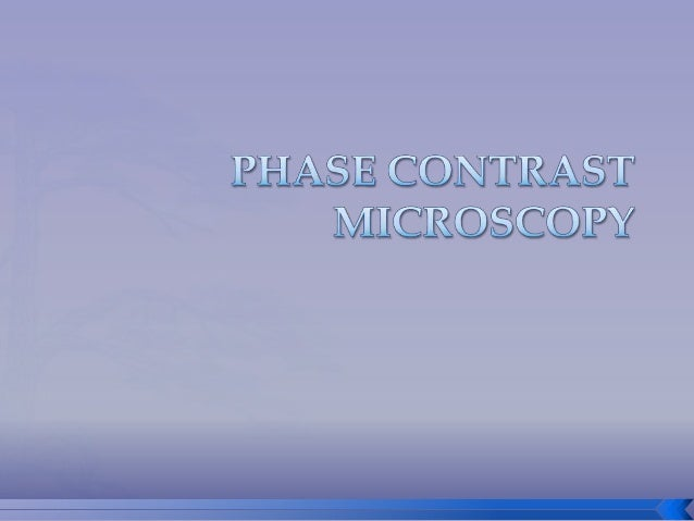 Phase contrast microscopy